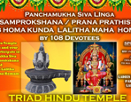 Panchamukha SivaLinga Pranaprathistha and Lalitha Homam by 108 Participating Ladies with Mata Saree