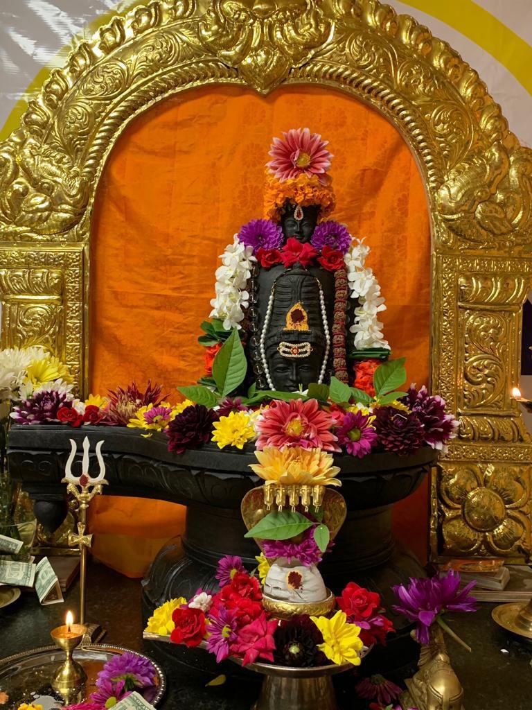 Monday's Panchamukha Shiva Linga RudraAbhishekam