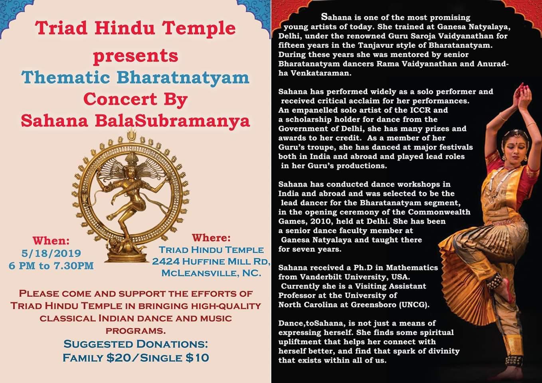 THT's Thematic Bharatnatyam concert