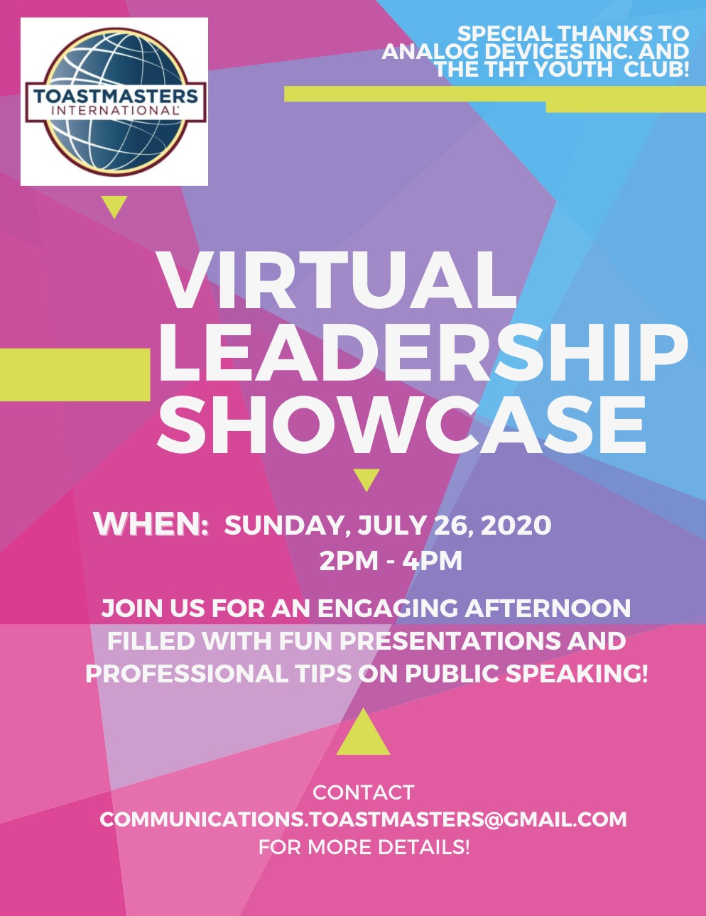 THT Youth Club's Virtual Leadership Showcase